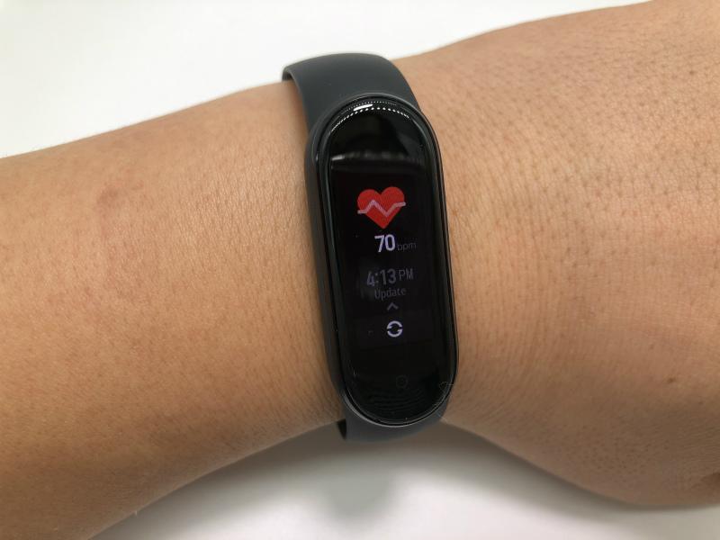 Mi Band 5の心拍数測定